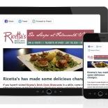Ricettas Brick Oven Ristorante Mailchimp Newsletter